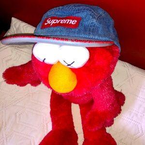 Brand NEW SUPREME Worldwide Visor Tape Denim Hat